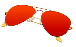 Sunglasses. Red glasses with an inscription royalty free illustration
