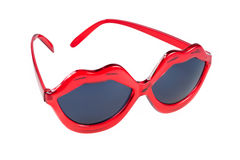 Sunglasses with red lip shaped frame Stock Image