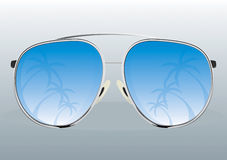 Sunglasses reflection. Reflection Sunglasses Cool Vector Drawing Stock Photos
