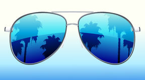 Sunglasses with the reflection Royalty Free Stock Photography