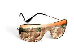 Sunglasses with reflection Stock Photos