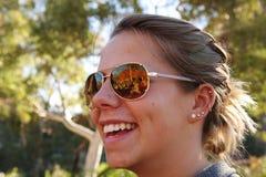 Sunglasses Reflection Stock Photography