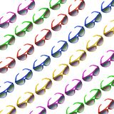Sunglasses in Repetition. On White Background stock image