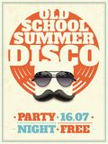 Sunglasses Retro Poster Stock Photo