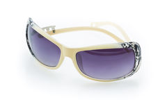 Sunglasses in a retro style. On a white background Stock Image