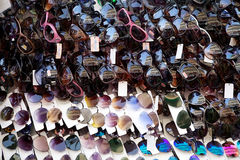 Sunglasses for sale near the New Market, Kolkata, India Stock Photo