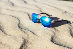 Sunglasses on the sand in the desert. Stock Photography