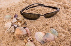 Sunglasses On Sand I Royalty Free Stock Photography