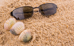 Sunglasses On Sand III Royalty Free Stock Photo