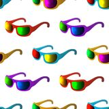 Sunglasses, seamless background Royalty Free Stock Photography