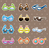 Sunglasses set stickers Stock Photography