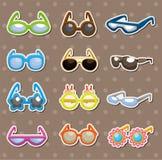 Sunglasses set stickers Stock Photography