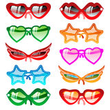 Sunglasses set. Vector icons Stock Photography