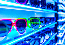 Sunglasses on Shelf (c1) Royalty Free Stock Photos