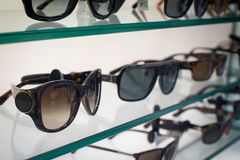 Sunglasses in the shop Royalty Free Stock Photo