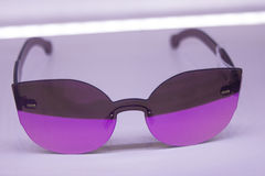 Sunglasses shop with sleek and advanced wearable technology with Stock Image