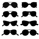 Sunglasses silhouette accessory collection style eye frame vector. Royalty Free Stock Images