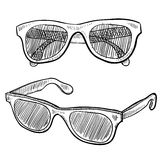 Sunglasses sketch Stock Images