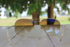 Sunglasses. Soft focus on sunglasses background Stock Photos