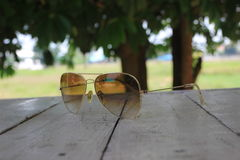 Sunglasses. Soft focus on sunglasses background Stock Photography