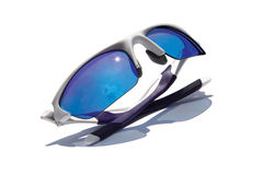 Sunglasses. Sporty high contrast sunglasses with a starburst Stock Photography