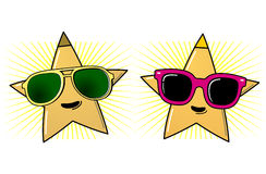 Sunglasses and stars Royalty Free Stock Images