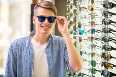 Sunglasses store Royalty Free Stock Images