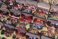 Sunglasses on street market. Yangon. Myanmar. Stock Photo