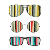 Sunglasses with striped reflection Royalty Free Stock Photography