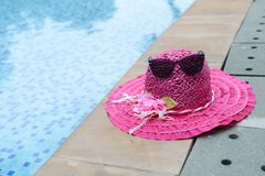 Sunglasses and summer hat Stock Photo