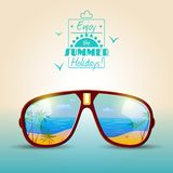 Sunglasses Summer Poster Stock Image