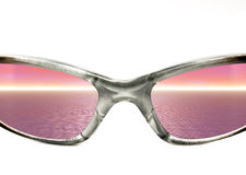 Sunglasses with Sunset Royalty Free Stock Images