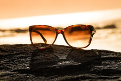 Sunglasses at Sunset Royalty Free Stock Image