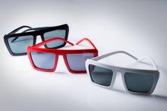 Sunglasses on the table Stock Photos