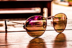 Sunglasses on the Table Royalty Free Stock Photo