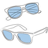 Sunglasses vector. Sunglasses illustration - open and close, isolated on white Royalty Free Stock Images
