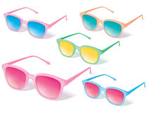 Sunglasses vector icon set. Stock Photos