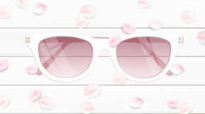 Sunglasses vector illustration background Stock Photos