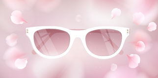 Sunglasses vector illustration background Royalty Free Stock Photos