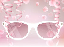 Sunglasses vector illustration background Stock Images