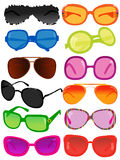 Sunglasses. Vector illustration of different sunglasses Royalty Free Stock Images