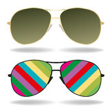 Sunglasses vector illustration Royalty Free Stock Images