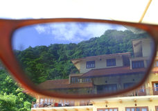 Sunglasses view Royalty Free Stock Photography