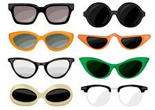 Sunglasses vintage set royalty free illustration
