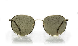 Sunglasses water droplets Stock Image