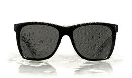 Sunglasses water droplets Stock Images