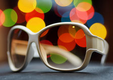White plastic sunglasses Royalty Free Stock Photos