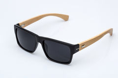 Sunglasses with wooden parts Royalty Free Stock Photography