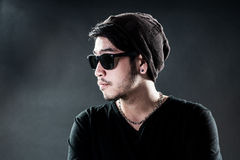 Sunglasses young man model fashion Royalty Free Stock Photography