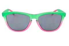 Sunglassess coloridos, le verde e vermelho, unisex, cinzento translúcido Imagem de Stock Royalty Free